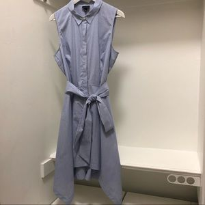 Who What Wear Stripe Handkerchief Hem Shirt Dress
